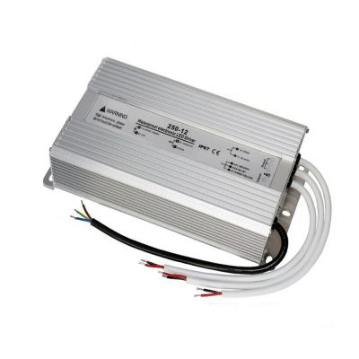 250W AC100V-240V to DC 12V 20A Waterproof Metal Shell LED Power Supply Transformer Driver(for LED Module/LED Strip/LED Bar)