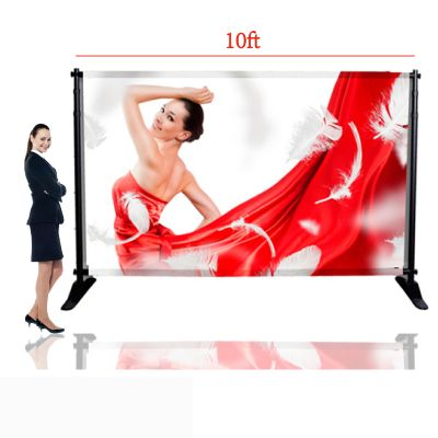 "US Stock-10""W x 8""H Large Tube Step and Repeat Adjustable Backdrop Telescopic Banner Stand (Stand Only)"