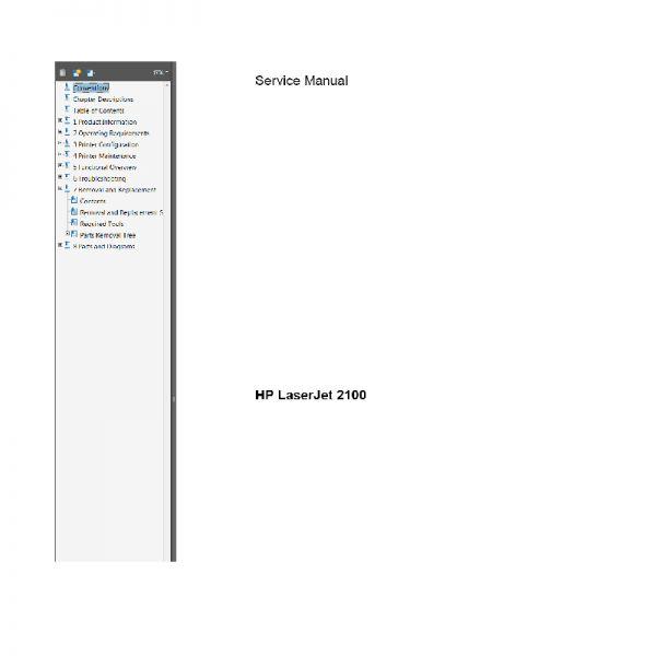 Laserjet 2100 Maintenance Manual