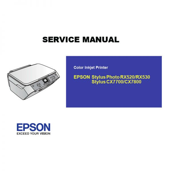 Free Download Epson Cx7700 7800 Rx520 530 Printer English