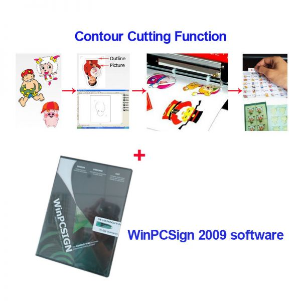 Professional Winpcsign 2009 Basic Cutting Software With