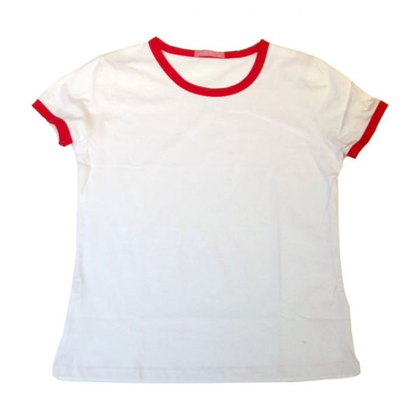 Blank Women S Combed Cotton T Shirt With Rim Colorful 4