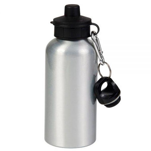 Sports Bottle Phone Case: 400ml Blank Silver Sport Bottle For Sublimation Printing