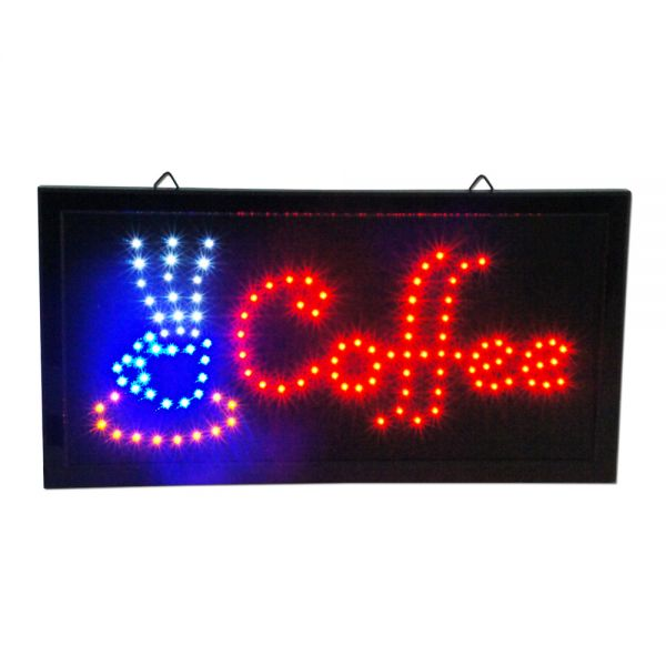 Bright Animated Led Caffee Open Signs 19 Quot X10 Quot Display