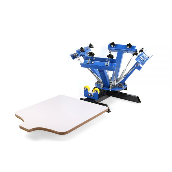 DIY Print Shop 4 Color Screen Printing Press
