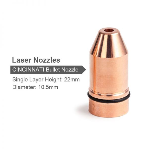 Bullet Laser Nozzle Single Layer Dia 10 5mm Hight 22mm