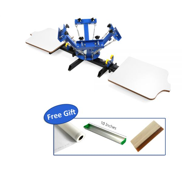 4dcca5b2 Details about US 4 Color 2 Station Silk Screen Printing Machine 4-2 Press  DIY T-Shirt Printing