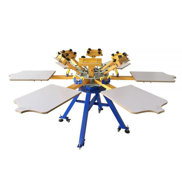 Us Stock 6 Color 6 Station Screen Printing Machine Press T