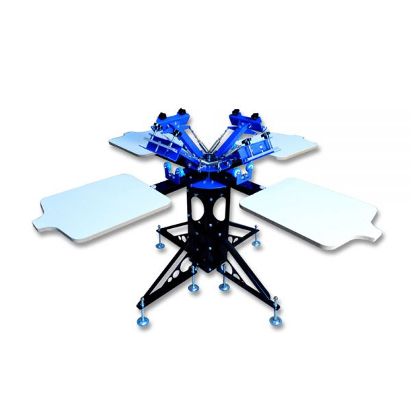 Us Stock 4 Color 4 Station Silk Screen Printing Machine
