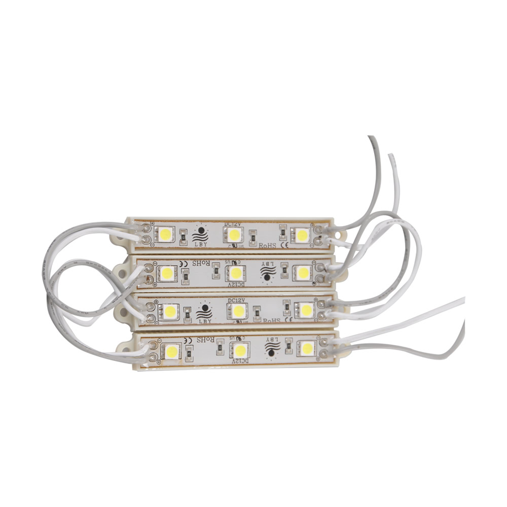 1Pack(100pcs)74mm*12mm Waterproof LED Module(SMD 3528,3LEDs,white light)