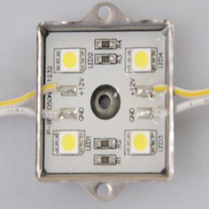 1Pack(100pcs)35mm*35mm Waterproof LED Module(SMD 5050,4LEDs,metal shell,white light)