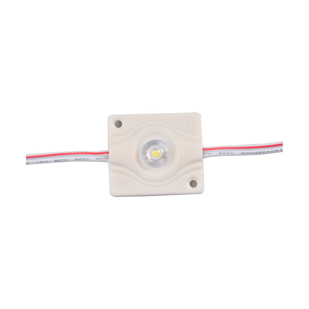 1Pack(60pcs)1.2w High Power Waterproof LED Module(35.5mm*40mm,white light)