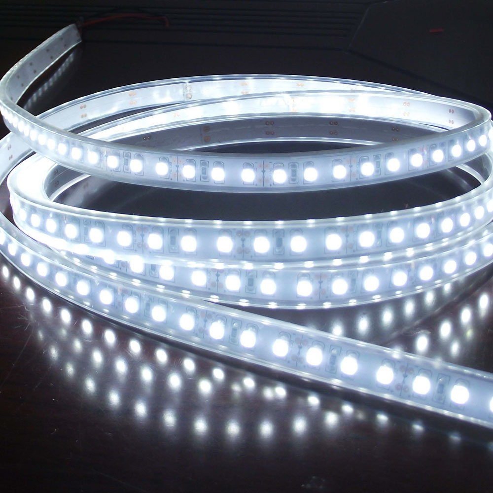 White Color Flexible LED Strip(120 SMD 3528 leds per meter waterproof IP66)