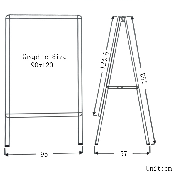 "Big Size Single Sided Snap Frame Poster Stand 35.5""x47.5""(Frame only)"
