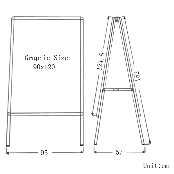 "Big Size Double Sided Snap Frame Poster Stand 35.5""x47.5""(Frame only)"