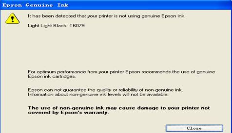 Epson 4880 Refilling Cartridge usage instruction