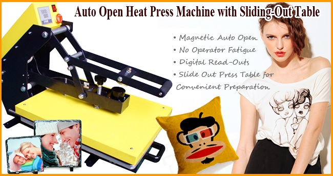 heat press machine advertising