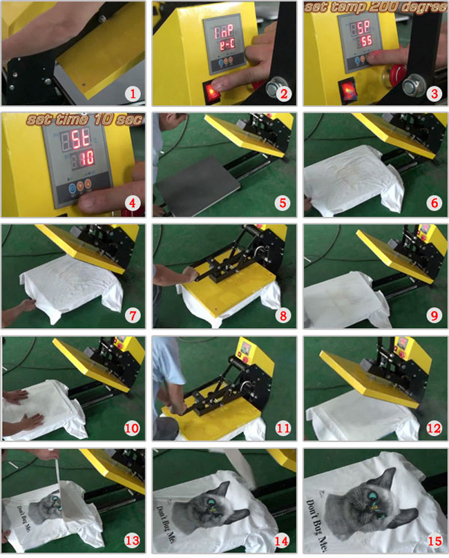heat press machine operation