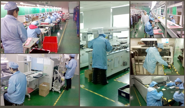 Table LED scrolling B1664B production process