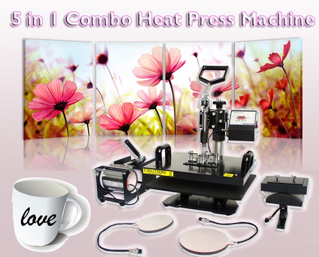 5 in 1 Combo Heat Press Machine  advertising