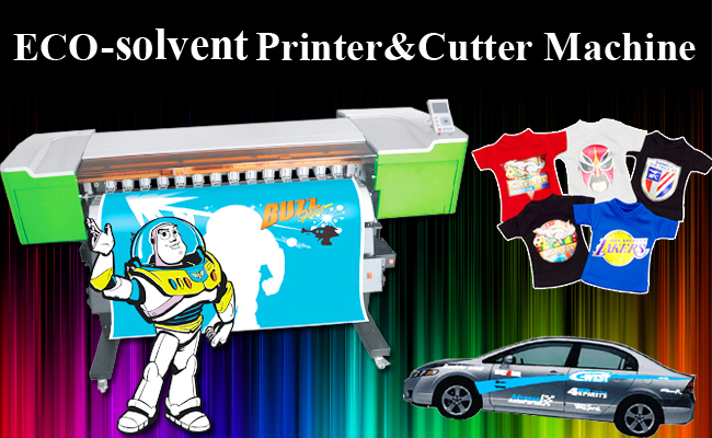 Eco-Solvent Printer&Cutter Digital Wide Format inkjet Machine advertising