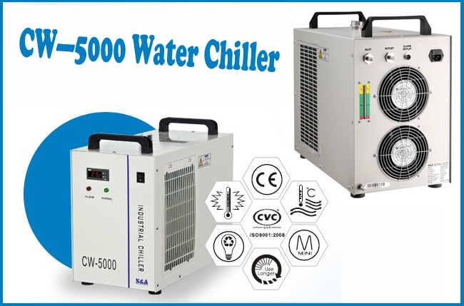 (1931) CW-5000AG Water Chiller for Single 120W CO2 Laser Tube Cooling AC Advertising
