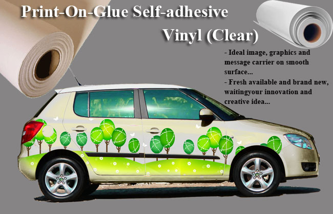 Print-On-Glue Self-adhesive Vinyl (Transparent)