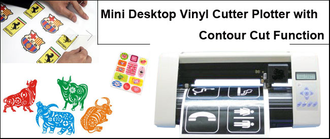 Mini Vinyl Cutter Plotter with Contour Cut Function