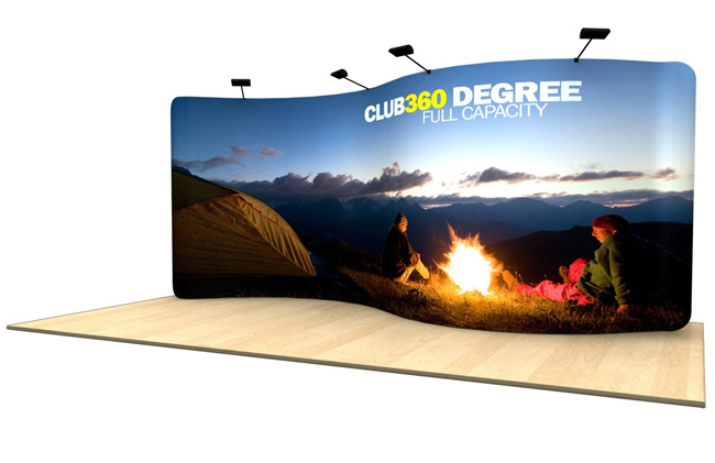 Application of 20ft S Shape Fabric Display Wall (Graphics Included)