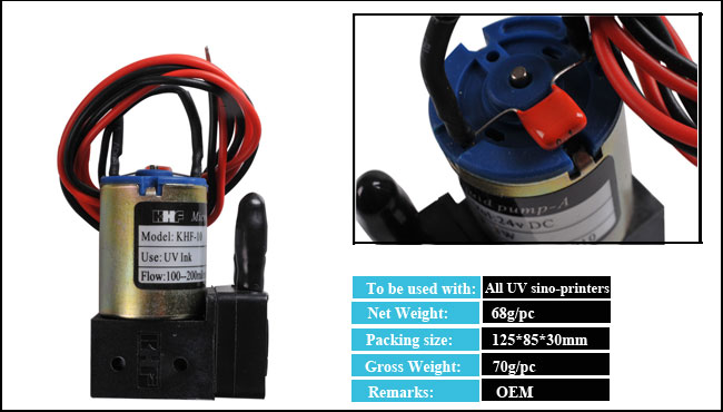 DC24V Small UV Ink Pump for Sino-Printers details