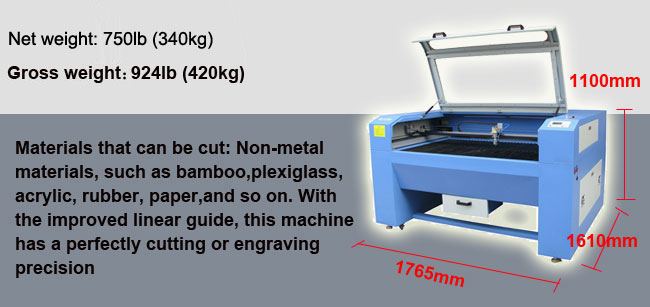 Detachable High Precision Laser Cutting Machine, 100W Laser