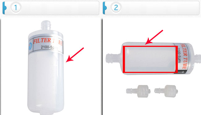 Printer Parts 50 pcs//lot B Type 60mm Ink Filter 5 Micron for Infiniti//JHF//Allwin//Phaeton//Yoton Solvent Ink Printers Parts