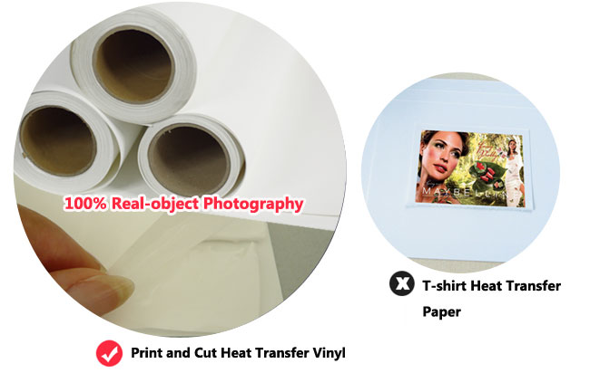 White Color Print & Cut Heat Transfer Vinyl-24
