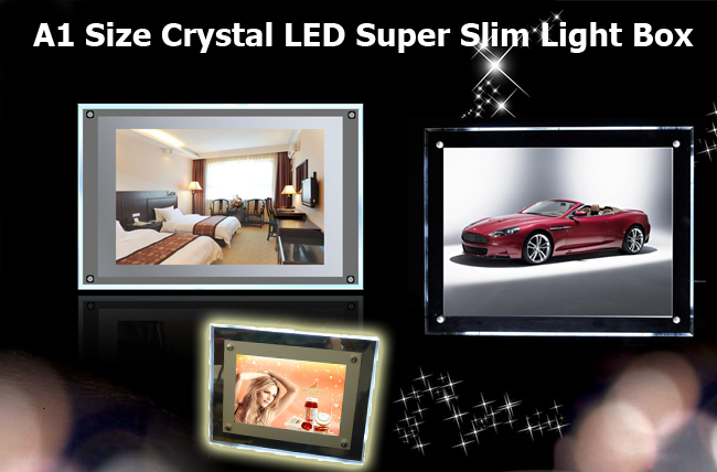 A1 Size Crystal LED Super Slim Light Box
