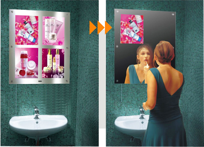 Multi-pictures Acrylic Magic Mirror Light Box application