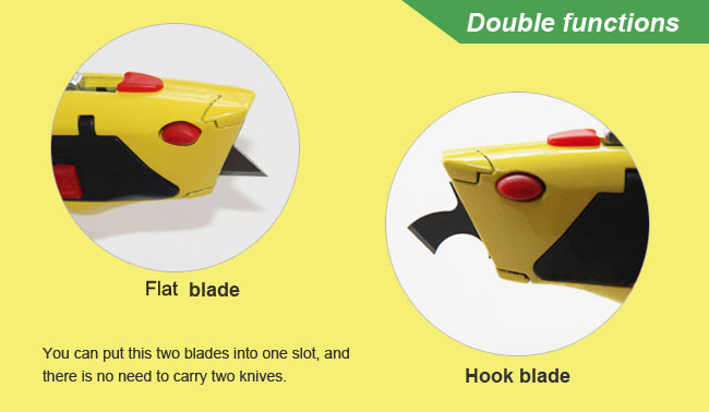 Flat Blades for Bowery Adjustable Fixed Blade Hook Cutter