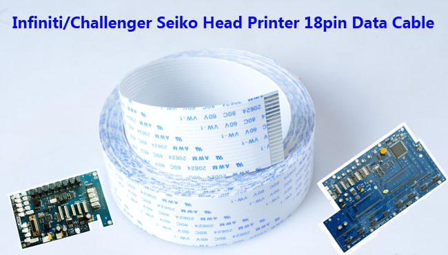 Infiniti/Challenger Seiko Head Printer 18pin Data Cable