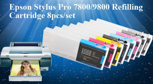 400ml Epson Stylus Pro 7800 9800 Refilling Cartridge