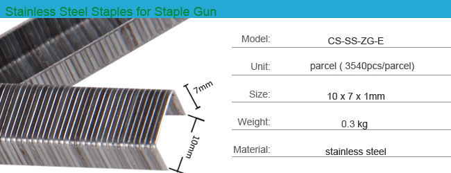 Stainless Steel Staples for Staple Gun