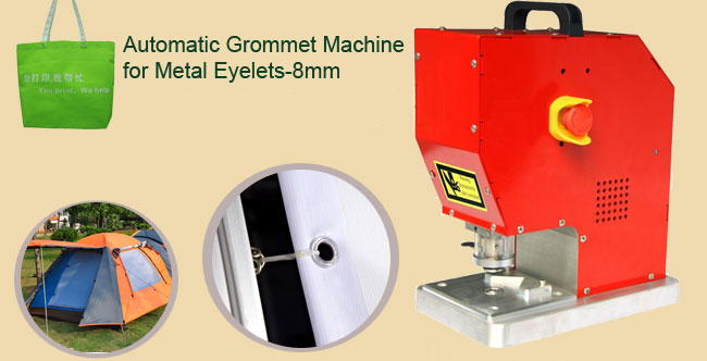 Automatic Grommet Machine for Metal Eyelets-8mm