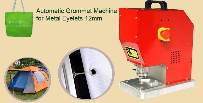 Automatic Grommet Machine for Metal Eyelets-12mm