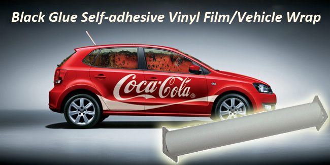 High Polymer Black Glue Self-adhesive Vinyl Film/Vehicle Wrap