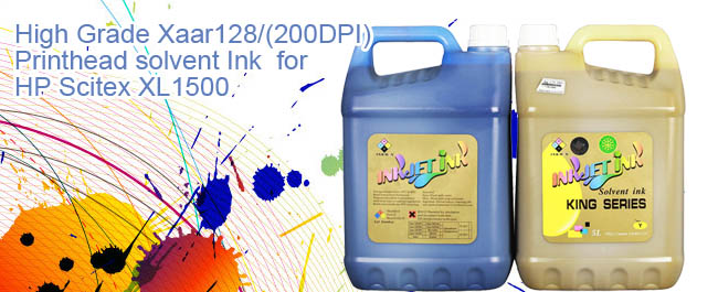 High Grade Xaar128/(200DPI) Printhead solvent Ink  for HP Scitex XL1500