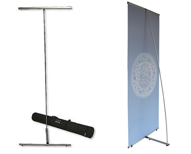 Economy Standard L Banner Stand application