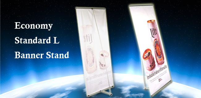 Economy Standard L Banner Stand
