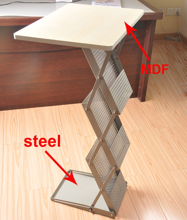 Portable Folding Table with 3 Literature Pockets details 2