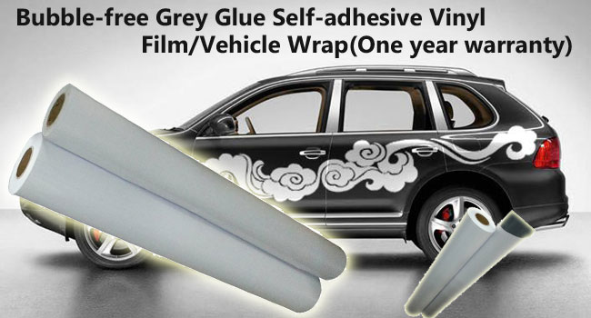 Bubble-free Grey Glue Self-adhesive Vinyl Film/Vehicle Wrap