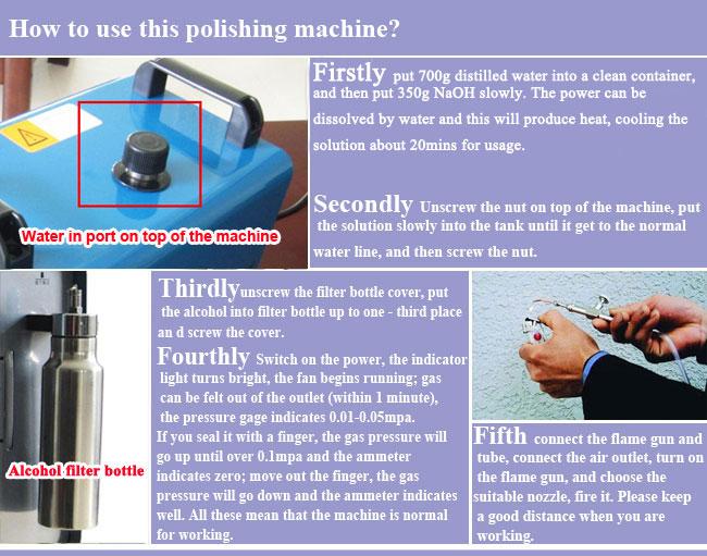 Portable Oxygen Hydrogen Water Welder Flame Polisher Polishing Machine 75L