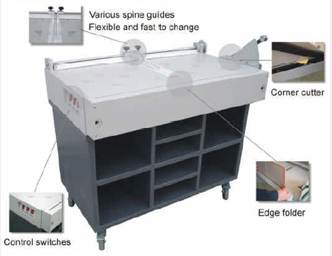 980*466mm Hard Cover Maker(Literature Table & Electric Edge Folding) details