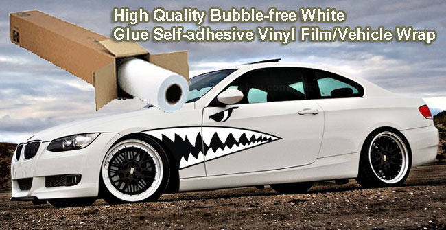 White Glue Self-adhesive Vinyl Film/Vehicle Wrap
